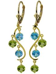 gemstone & gold earrings