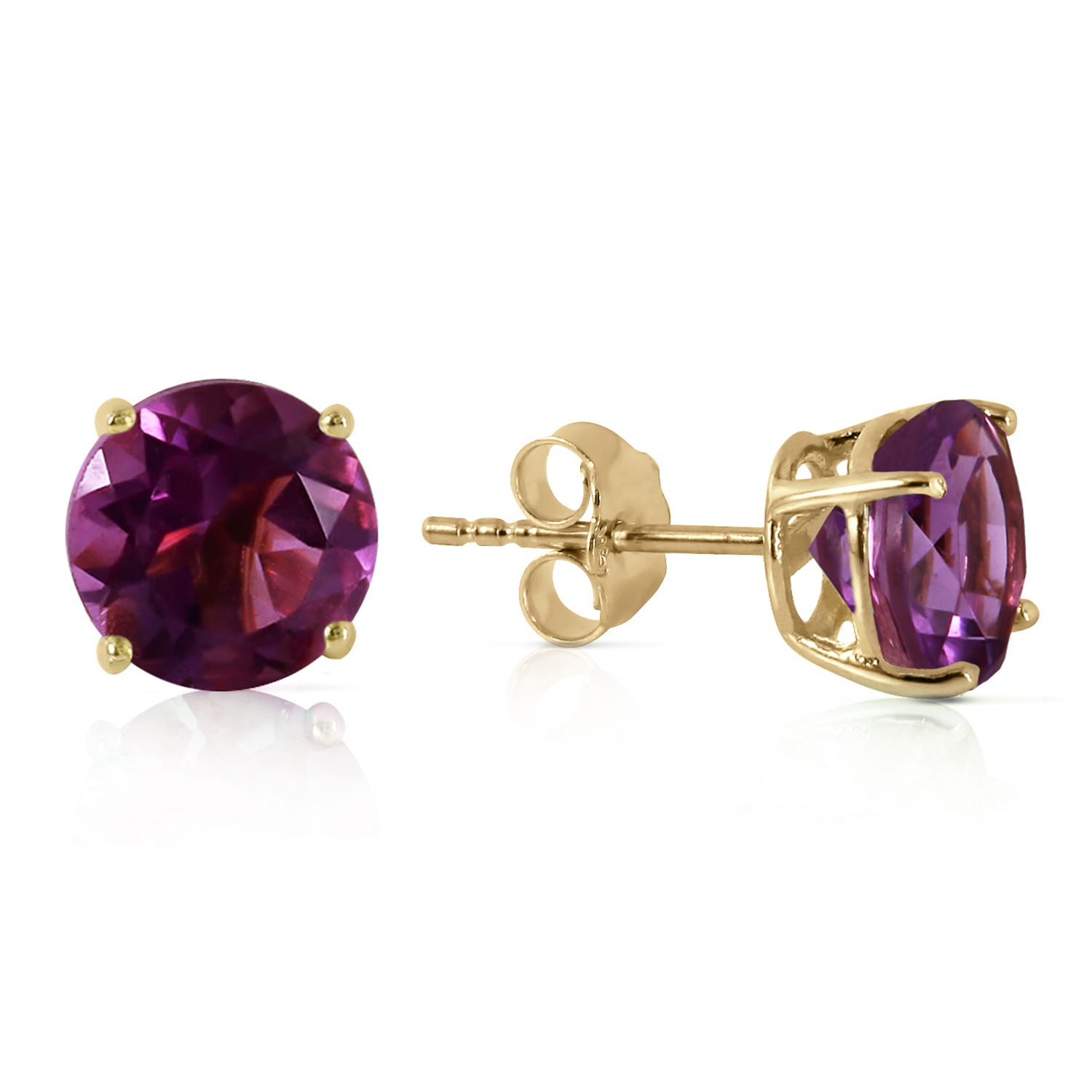 3 1 ctw 14k solid gold no discord amethyst earrings ebay. Black Bedroom Furniture Sets. Home Design Ideas