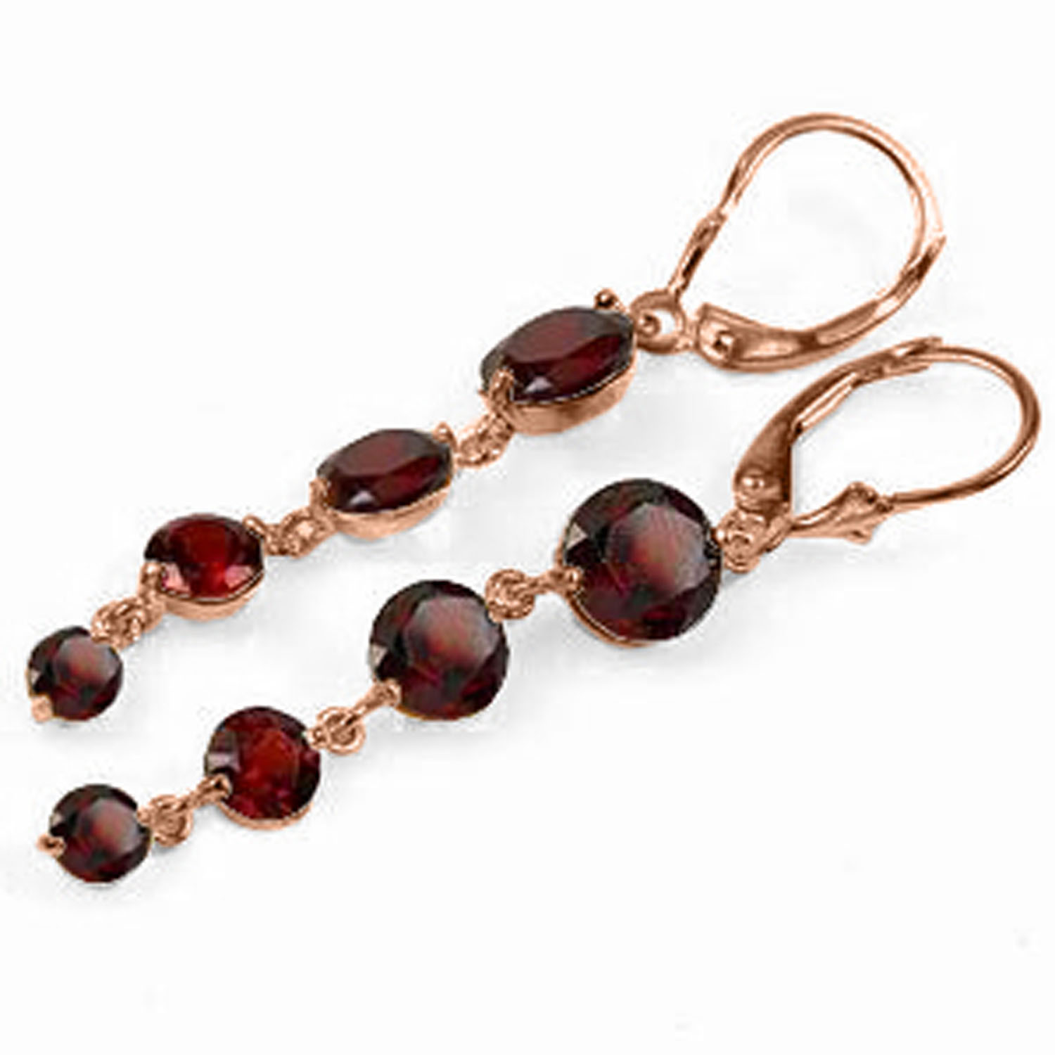 78 ctw 14k solid rose gold chandelier earrings natural garnet ebay 7 8 ctw 14k solid rose gold chandelier arubaitofo Image collections