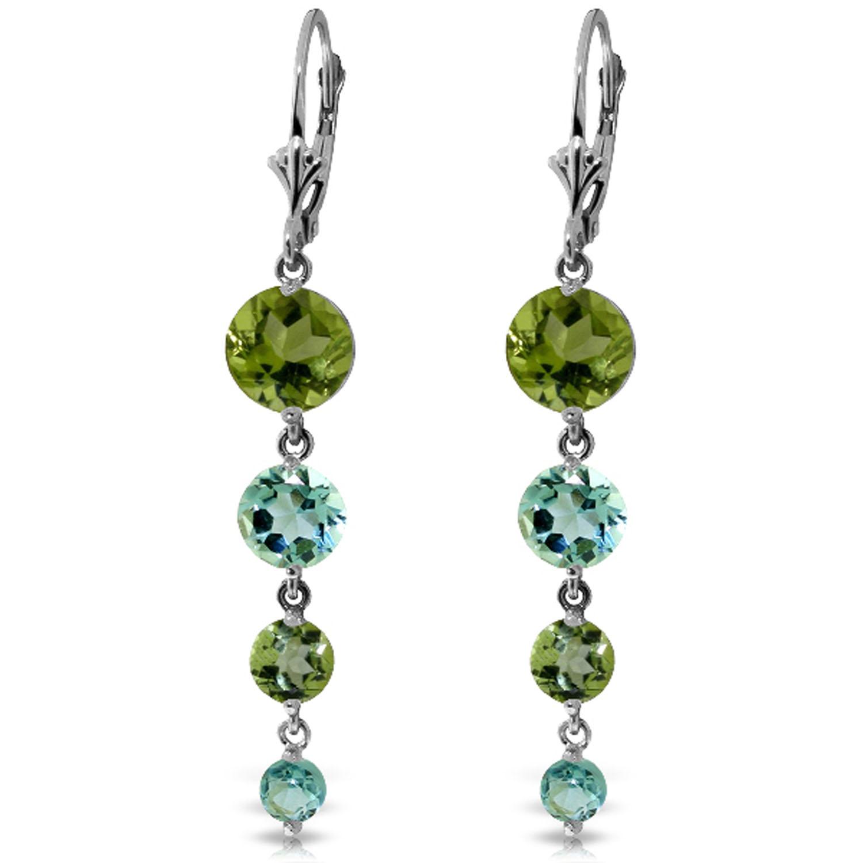 78 carat 14k solid white gold chandelier earrings peridot blue image is loading 7 8 carat 14k solid white gold chandelier aloadofball Image collections