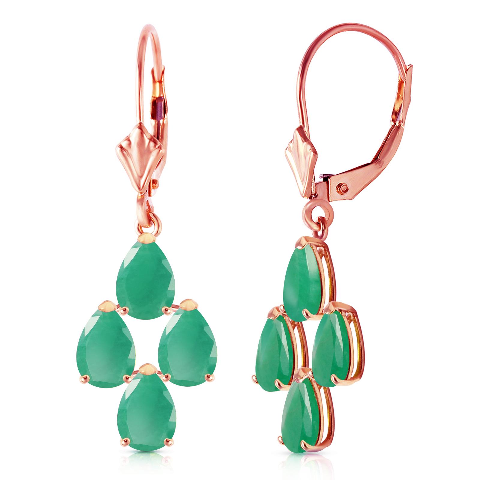 Image Is Loading 4 5 Carat 14k Solid Rose Gold Emerald