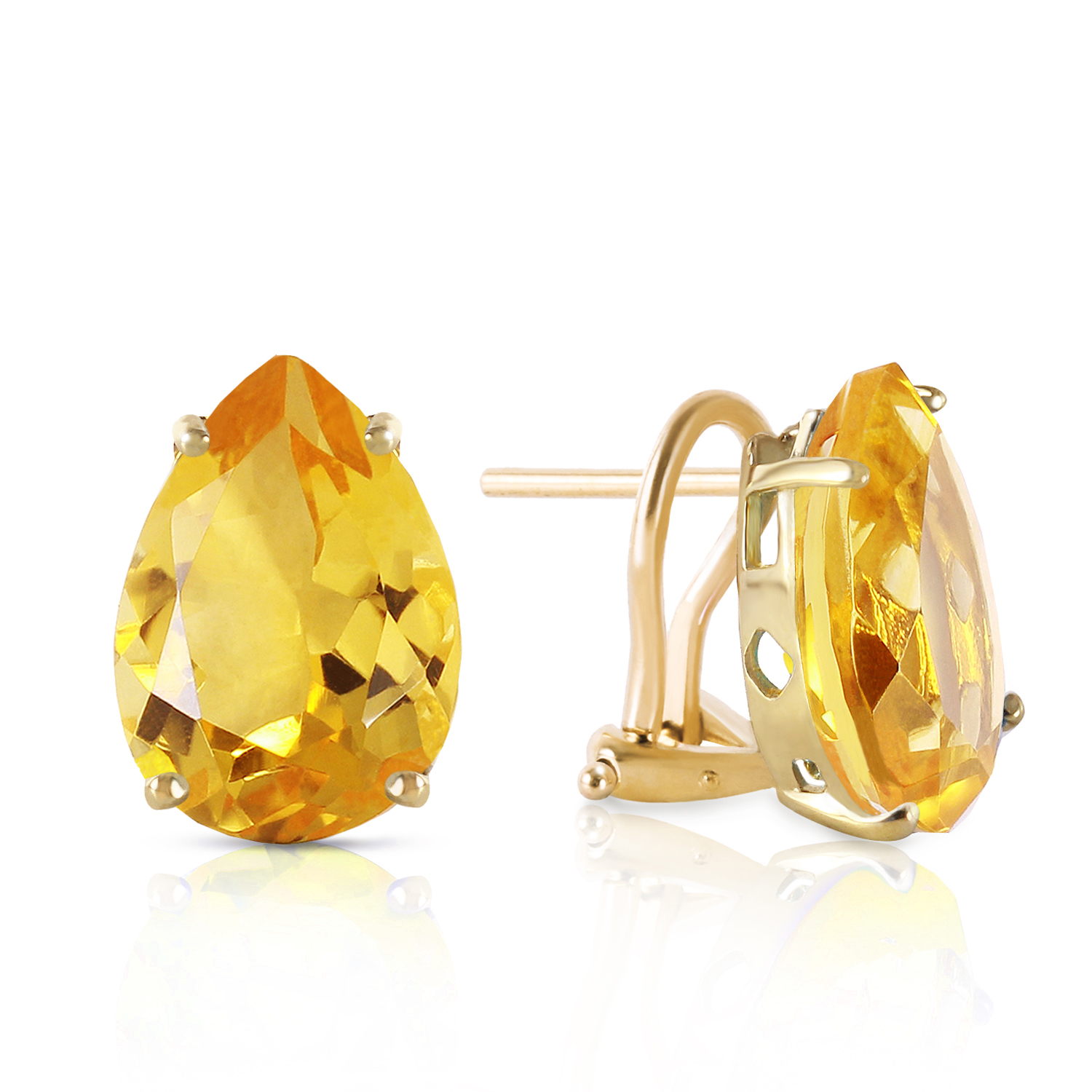 10 CTW 14K Solid gold Inspiration Citrine Earrings