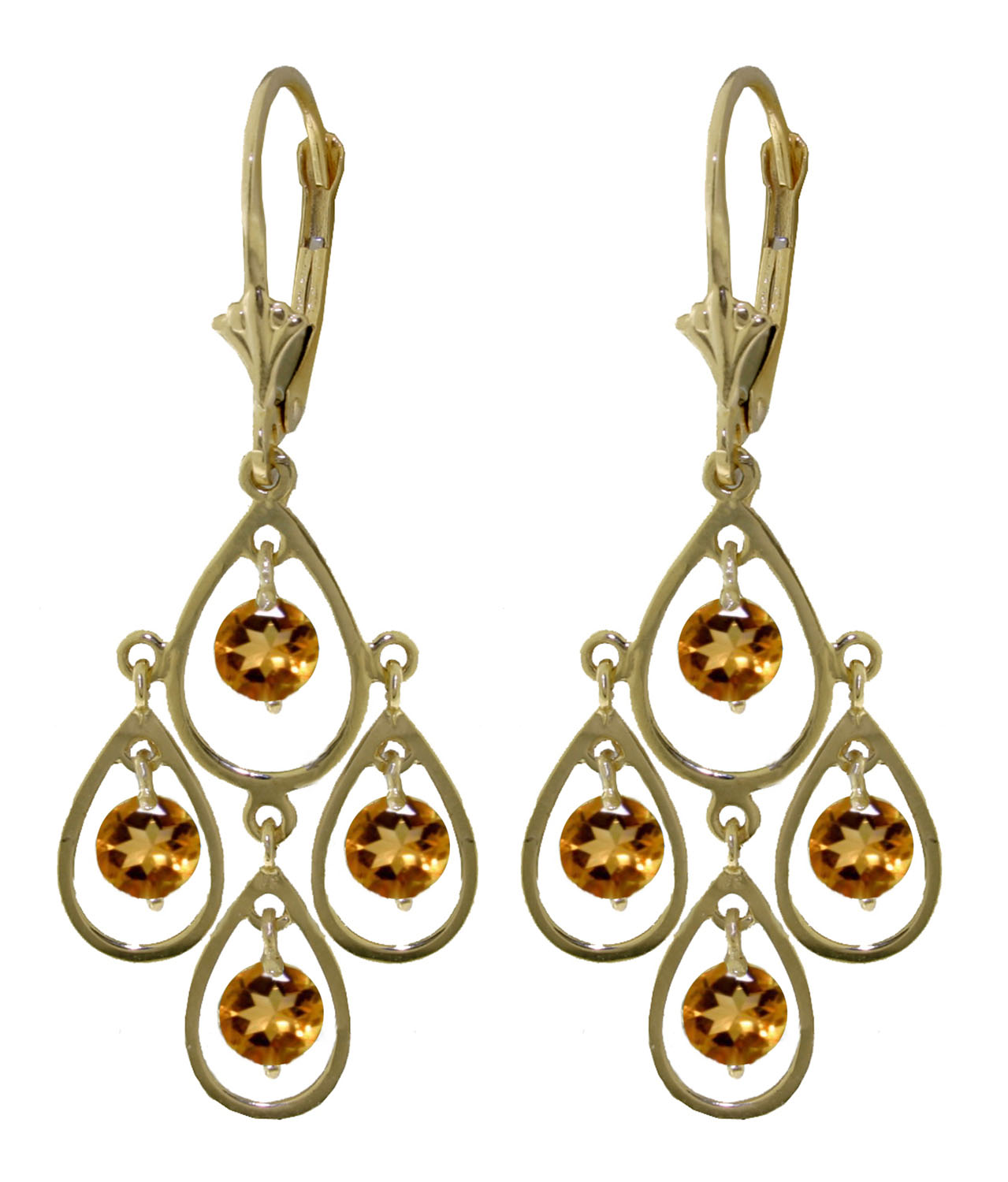 14k solid rose gold chandelier earrings with citrines ebay image is loading 14k solid rose gold chandelier earrings with citrines arubaitofo Image collections