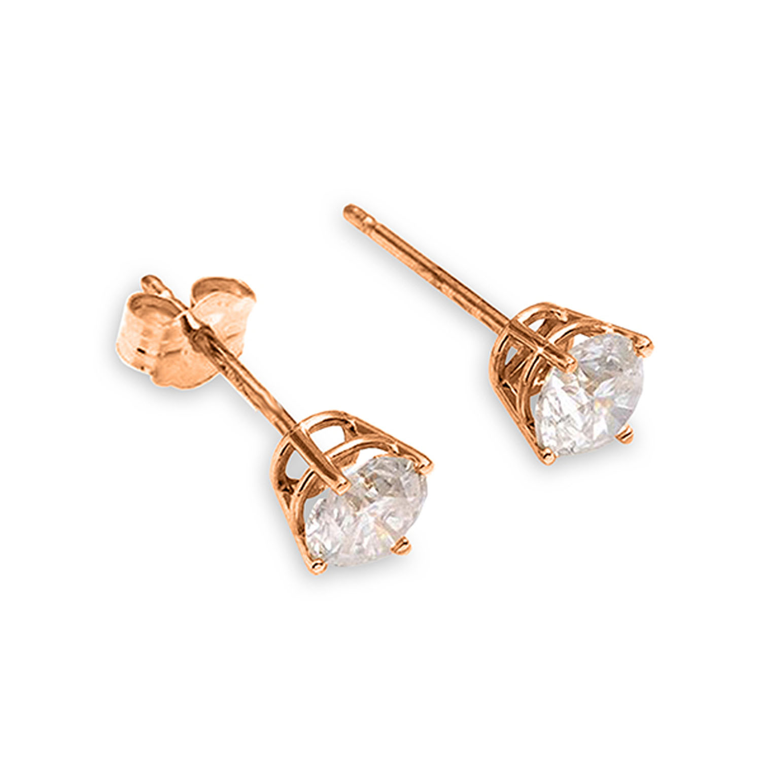 8a5217a6f 0.2 Carat 14K Solid Rose Gold Stud Earrings 0.20 Carat Natural ...