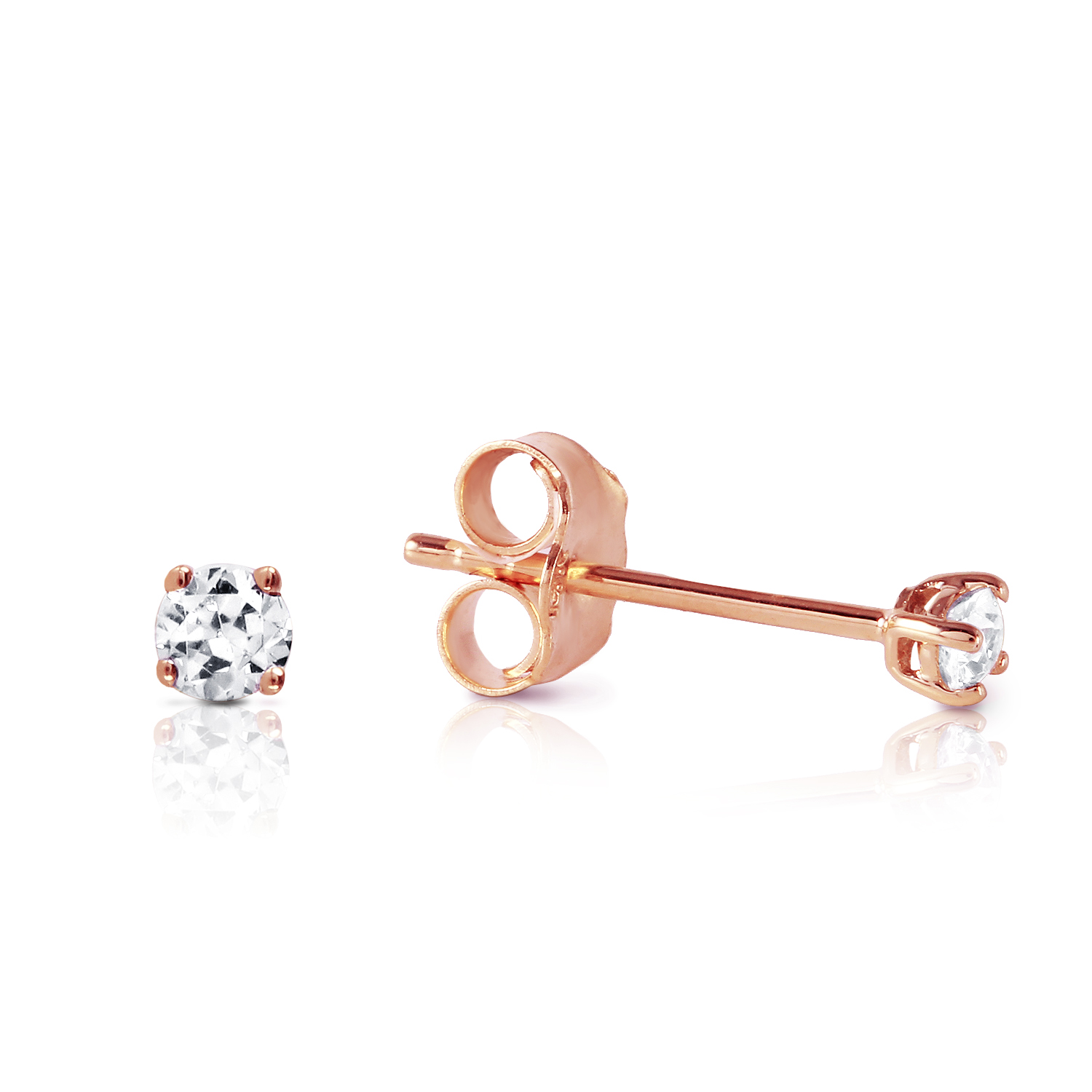 Image Is Loading 0 1 Ctw 14k Solid Rose Gold Stud