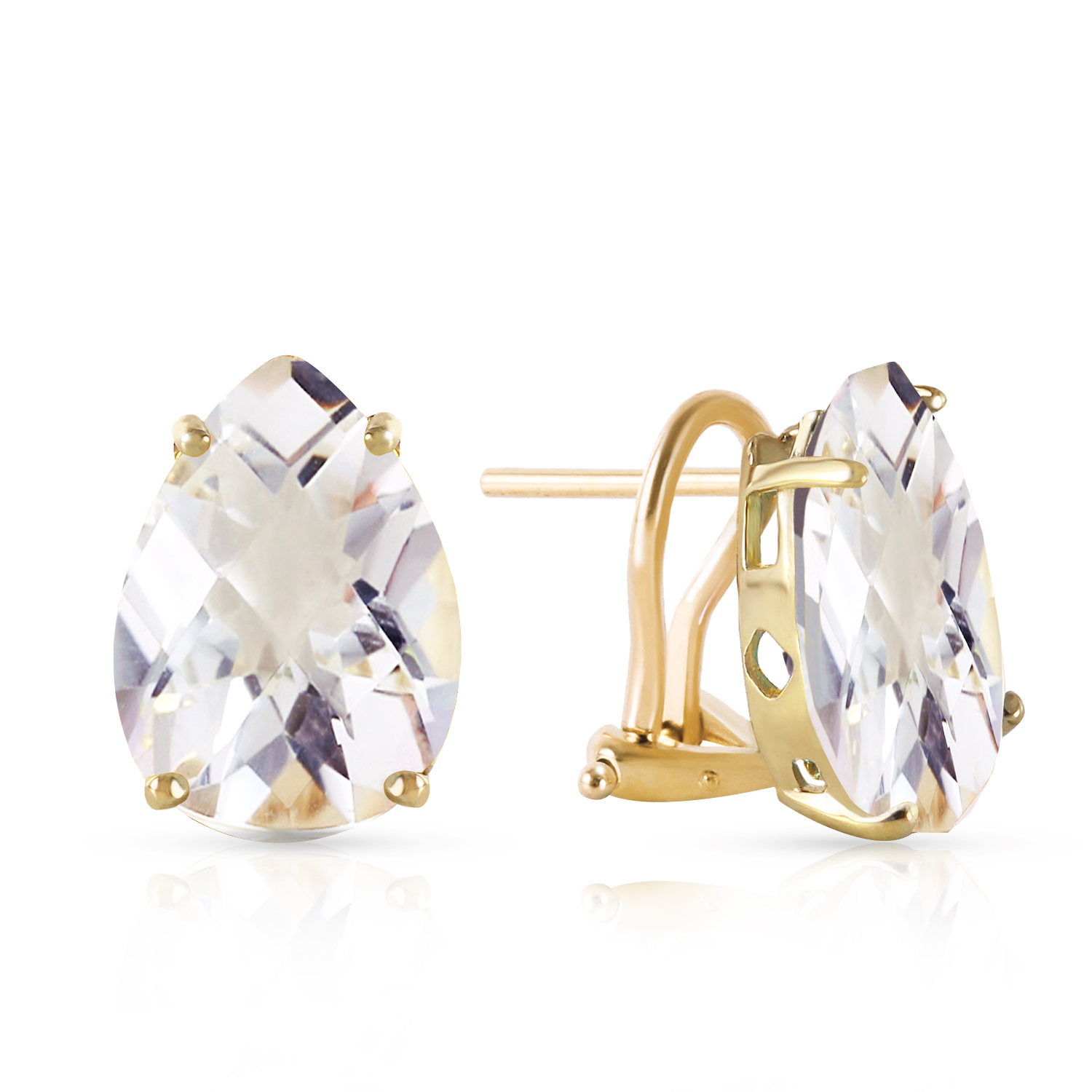 Image Is Loading 10 Ctw 14k Solid Gold French Clips Earrings