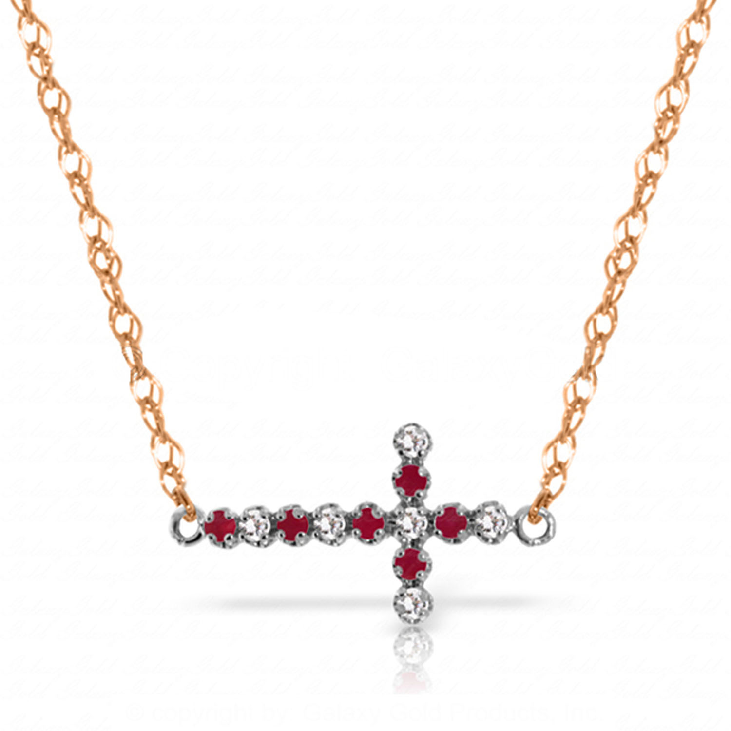ctw 14k solid rose gold fine cross necklace 16 24. Black Bedroom Furniture Sets. Home Design Ideas