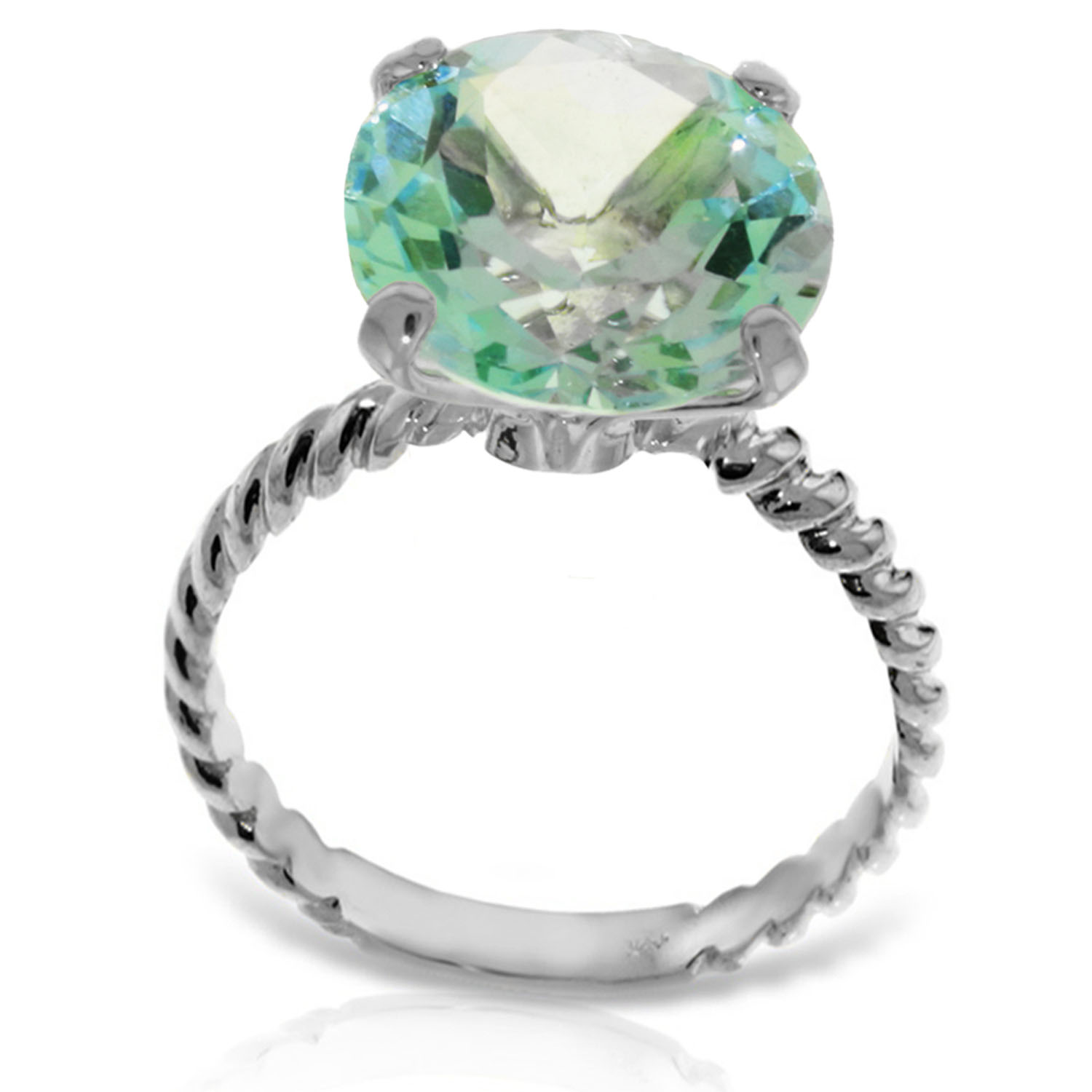 platinum plated 925 sterling silver ring w 12 0